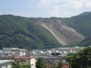 3年3組の教室から見えるエンクラエン山
