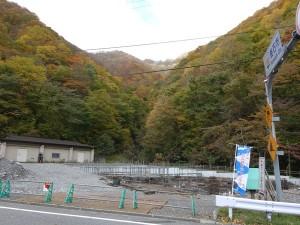 峠コースの第二折り返し点(仙人トンネル入口)
