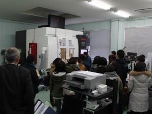 5軸マシニングセンターの見学(釜石・大槌地域産業育成センター)