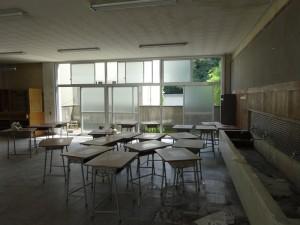 2階美術室(ビーナスの石膏像がある)