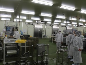 水産加工場の視察